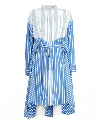 Odd striped shirt dress