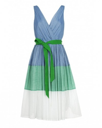 Tricolore voile dress